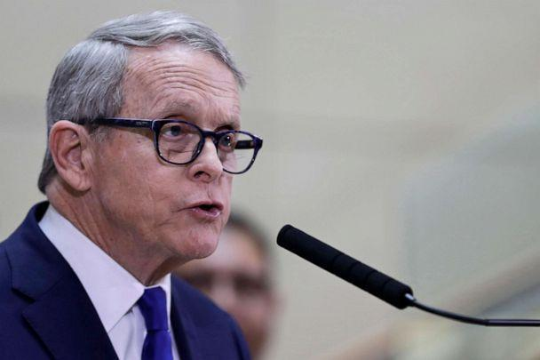 PHOTO: Ohio Governor Mike DeWine gives an update at MetroHealth Medical Center on the state's preparedness and education efforts to limit the potential spread of a new virus which caused a disease called COVID-19, Feb. 27, 2020, in Cleveland. (Tony Dejak/AP, FILE)