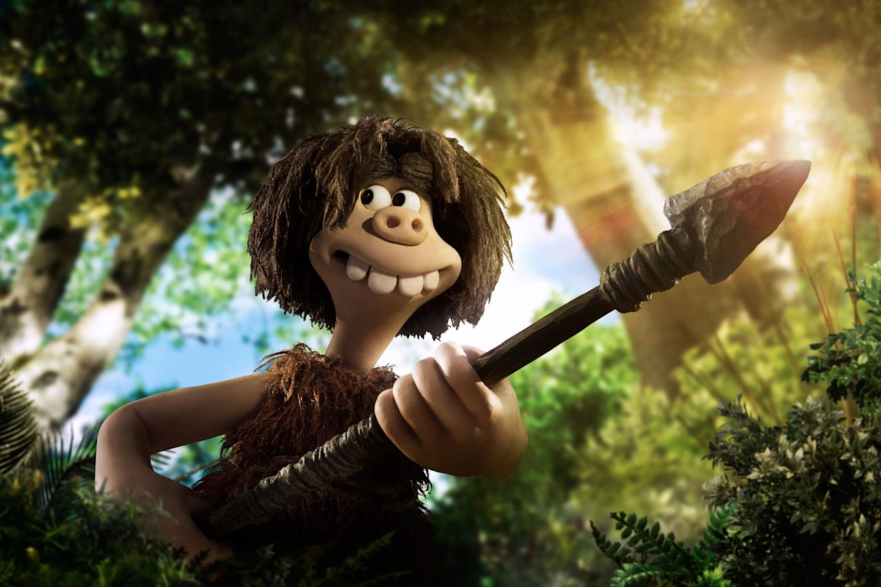 <p>Set at the dawn of time, when prehistoric creatures and woolly mammoths roamed the earth, Early Man tells the story of Dug, along with sidekick Hognob as they unite his tribe against a mighty enemy Lord Nooth and his Bronze Age City to save their home. </p>