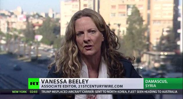 Beeley is regularly invited to speak on Russian state media.