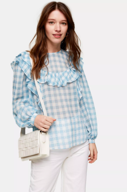 """<h3><a href=""""https://us.topshop.com/"""" rel=""""nofollow noopener"""" target=""""_blank"""" data-ylk=""""slk:Topshop"""" class=""""link rapid-noclick-resp"""">Topshop</a></h3><br><strong>Dates: </strong>Limited time<br><strong>Sale: </strong><a href=""""https://us.topshop.com/en/tsus/category/sale-6923951/shop-all-sale-7108379"""" rel=""""nofollow noopener"""" target=""""_blank"""" data-ylk=""""slk:Up to 70% off final clearance"""" class=""""link rapid-noclick-resp"""">Up to 70% off final clearance</a><br><strong>Promo Code:</strong> None<br><br>Your wardrobe might just be in for a British-approved boost. The U.K.'s favorite fast fashion retailer is currently offering up to <a href=""""https://us.topshop.com/en/tsus/category/sale-6923951/shop-all-sale-7108379"""" rel=""""nofollow noopener"""" target=""""_blank"""" data-ylk=""""slk:70% off a selection"""" class=""""link rapid-noclick-resp"""">70% off a selection</a> of jeans, dresses, tops, and more. <br><br><strong>Topshop</strong> Blue Gingham Yoke Dobby Top, $, available at <a href=""""https://go.skimresources.com/?id=30283X879131&url=https%3A%2F%2Fus.topshop.com%2Fen%2Ftsus%2Fproduct%2Fblue-gingham-yoke-dobby-top-9972714"""" rel=""""nofollow noopener"""" target=""""_blank"""" data-ylk=""""slk:Topshop"""" class=""""link rapid-noclick-resp"""">Topshop</a>"""