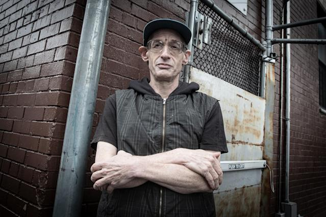 David Shohl stands outside the shelter in the Crown Heights section of Brooklyn. (Photo: Gordon Donovan/Yahoo News)