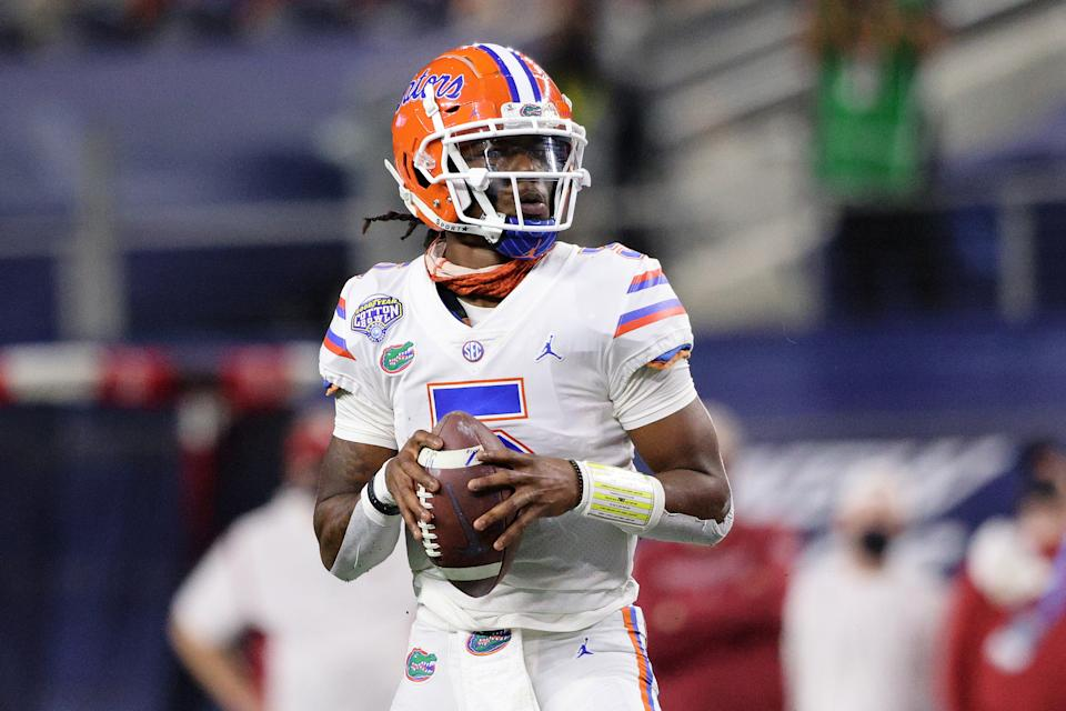 Florida QB Emory Jones hasn't taken over as the starter yet but has big-league ability. (Photo by Ronald Martinez/Getty Images)