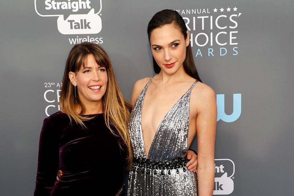 Patty Jenkins and Gal Gadot attend the 23rd Annual Critics' Choice Awards at Barker Hangar on January 11, 2018. (Photo by Taylor Hill/Getty Images)