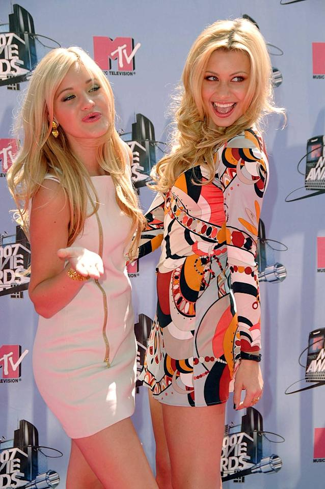 """Sassy siblings AJ and Aly Michalka of """"Aly & AJ"""" have a blast on the red carpet. Steve Granitz/<a href=""""http://www.wireimage.com"""" target=""""new"""">WireImage.com</a> - June 3, 2007"""