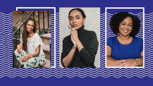 PHOTO: Mental health experts Lalah Delia, Latham Thomas, Dr. Joy Harden Bradford have become go-to wellness sources for people of color. (ABC Photo Illustration, Jessica Morrisey, Roneka Patterson, and Tammy McGarity)