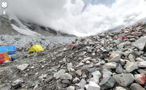 Google Maps unveiled stunning images from the Mt. Everest base camp and three other mountains around the world