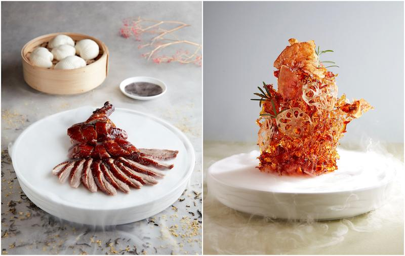 The two duck dishes. Photo: Grand Shanghai