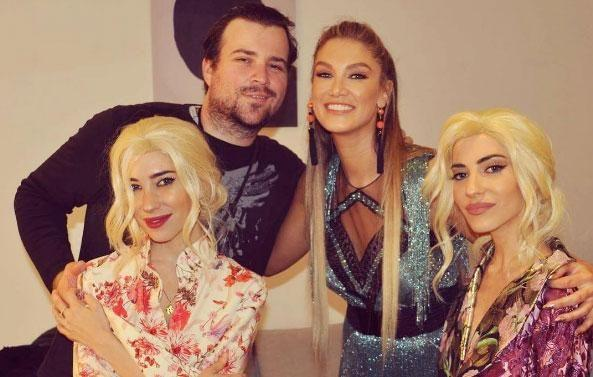 Delta hanging out backstage with guest performers The Veronicas and her pal Joe Dadic who took the glam shots of her. Source: Instagram