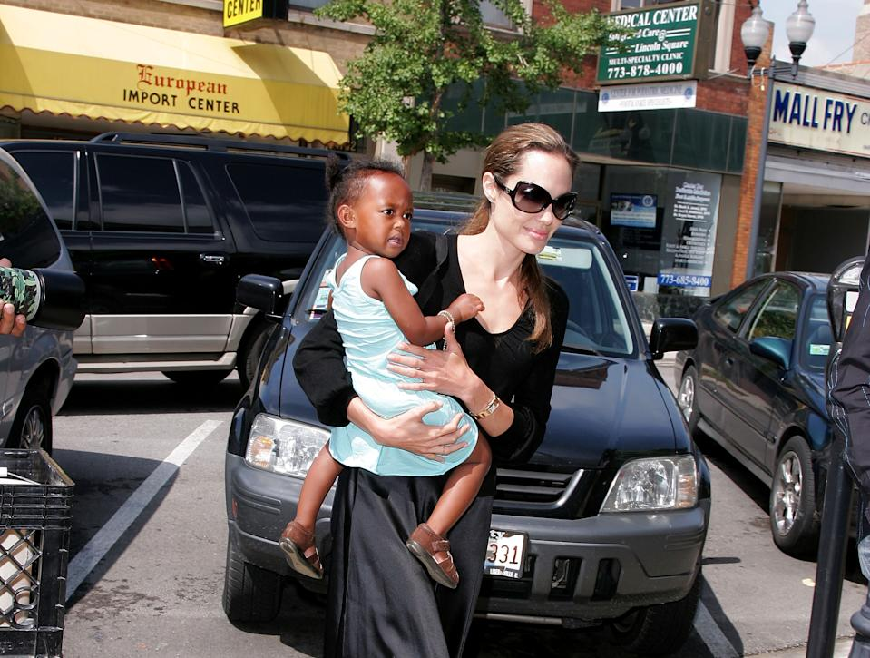Angelina Jolie, pictured with daughter Zahara in 2007. (Photo: James Devaney/WireImage)
