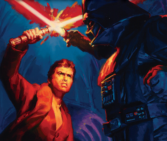 Jax Pavan vs. Darth Vader on cover of 'Patterns of the Force: Coruscant Nights III' (Del Rey)