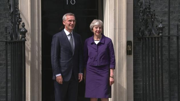NATO Secretary General Jens Stoltenberg has met Theresa May MP for talks at Downing Street. Earlier on Thursday the former Prime Minister of Norway delivered a speech at Lancaster House highlighting the strength of defence ties between Europe and North America .