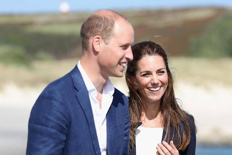 Prince William and Kate Middleton on the Island of St Martin's, Scilly Isles, in 2016: Getty Images