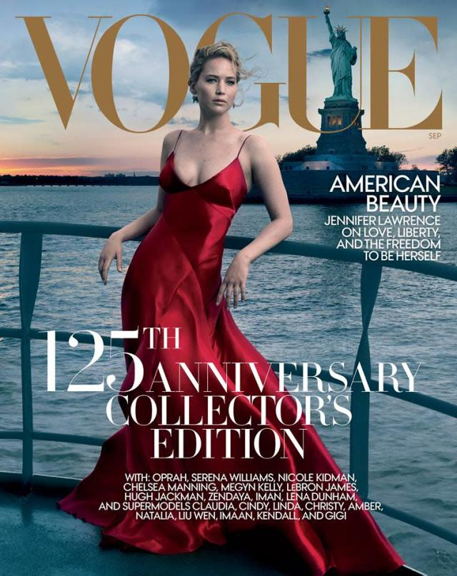 Jennifer Lawrence, Vogue, September 2017. (Photo: Annie Leibovitz)