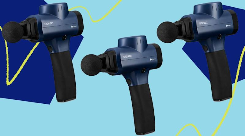 Here's everything you should know before buying a massage gun. (Photo: HuffPost )