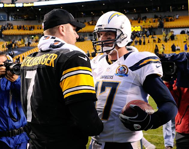 Ben Roethlisberger and Philip Rivers make for nice insurance plans at QB. (Getty)