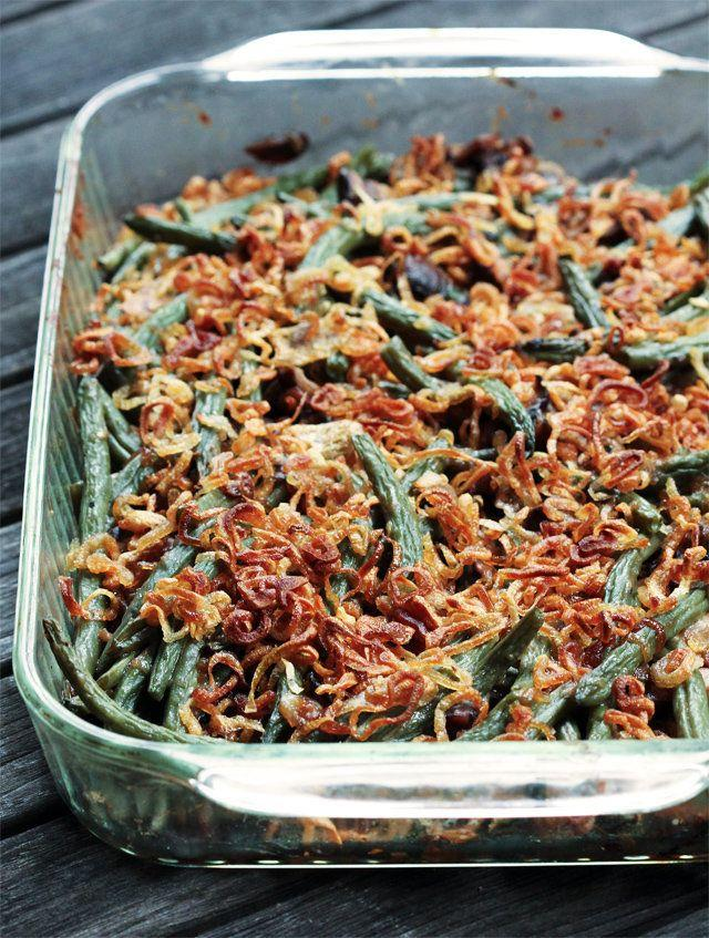 "<strong>Get the <a href=""http://www.kitchenkonfidence.com/2011/11/green-bean-casserole/"">Green Bean Casserole with Crispy Shallots from Kitchen Konfidence</a></strong>"