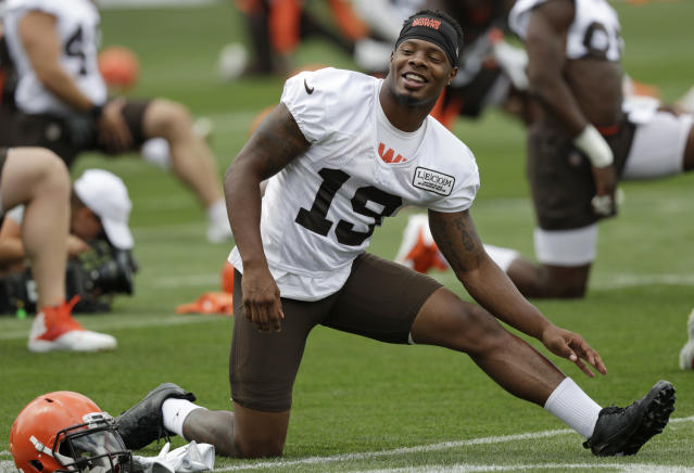 "<a class=""link rapid-noclick-resp"" href=""/nfl/players/29249/"" data-ylk=""slk:Corey Coleman"">Corey Coleman</a> is heading to the Bills. (AP)"