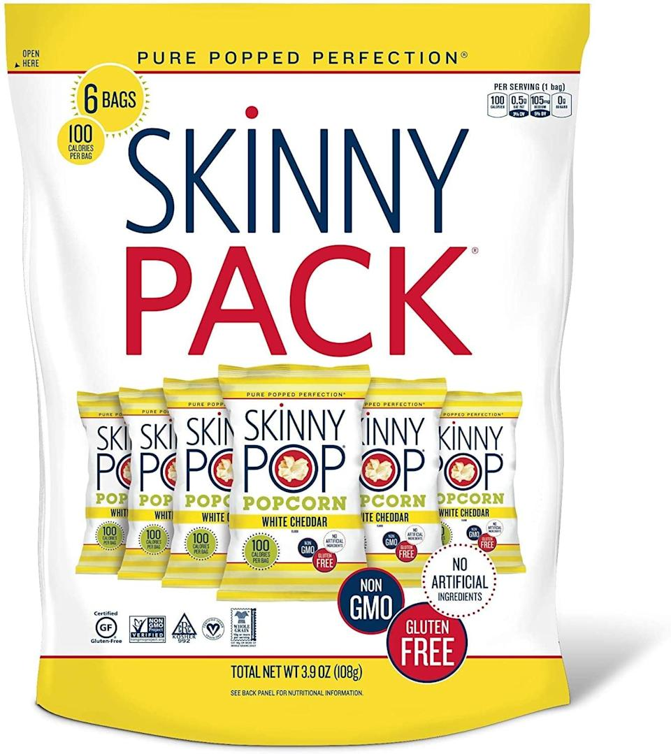 <p>Enjoy a handful of this great-tasting <span>SkinnyPop White Cheddar Popped Popcorn</span> ($4), then come back to it later.</p>