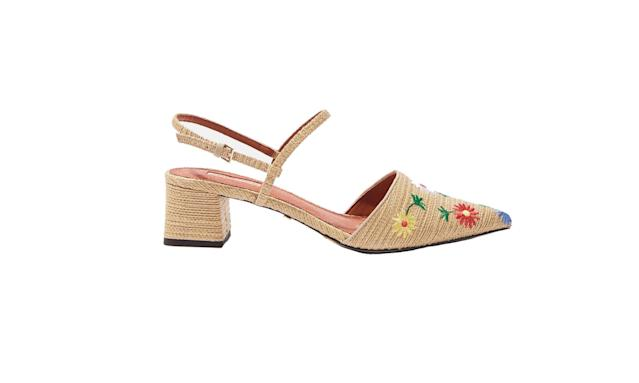 "<p>Jasmine embroidered midi-heel sandals, $80, <a href=""http://us.topshop.com/en/tsus/product/shoes-70484/sandals-5388239/jasmine-embroidered-mid-heel-sandals-6574852?bi=0&ps=20"" rel=""nofollow noopener"" target=""_blank"" data-ylk=""slk:topshop.com"" class=""link rapid-noclick-resp"">topshop.com</a> </p>"