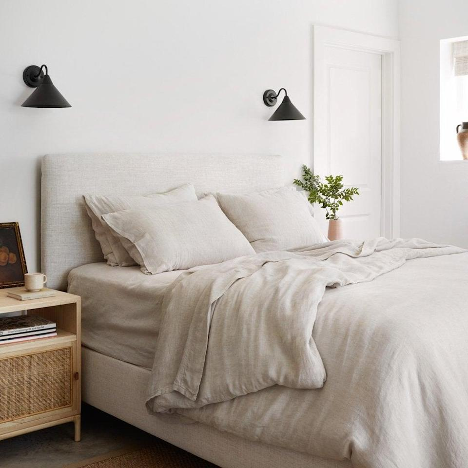 <p>If you're sold and want it all, then get this <span>The Citizenry Stonewashed Linen Bed Bundle</span> ($455). It includes a flat and fitted sheet, a duvet cover, and four pillowcases. Yes, the two extra pillowcases are amazing!</p>