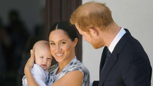 PHOTO: Meghan, Duchess of Sussex and Britain's Prince Harry hold their son Archie at the Desmond & Leah Tutu Legacy Foundation in Cape Town, South Africa, Sept. 25, 2019. (Toby Melville/Reuters)