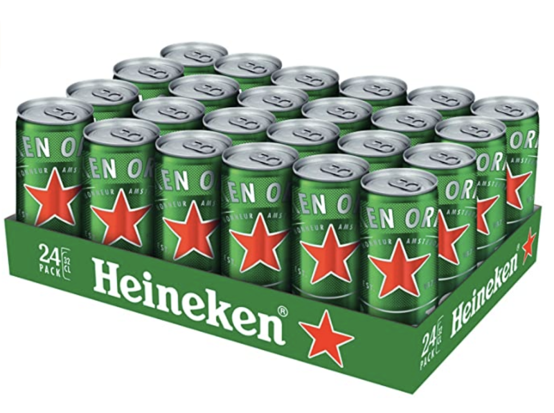 Heineken Lager Beer Can, 320ml. (PHOTO: Amazon)
