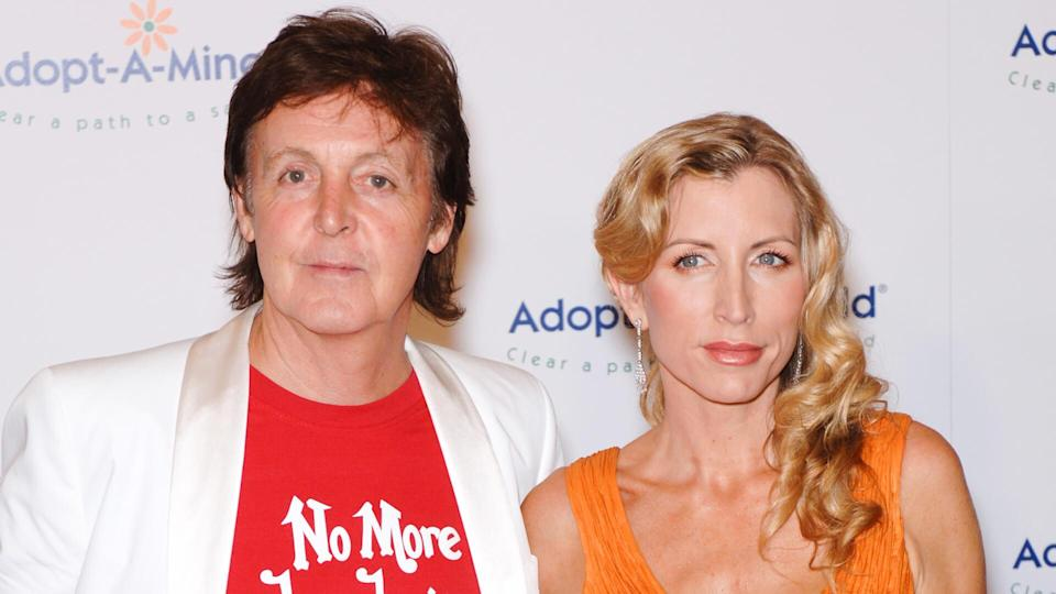 PAUL McCARTNEY & wife HEATHER MILLS McCARTNEY at the fifth annual Adopt-A-Minefield Gala in Beverly Hills.