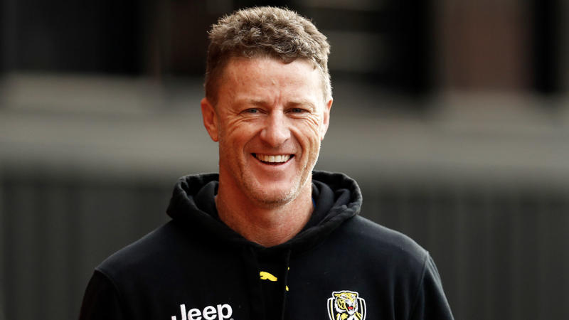 Richmond coach Damien Hardwick (pictured) said his wife was not to happy with his comments about the Sydney Swans following the match. (Getty Images)