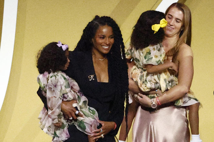 <p>Also on hand to support the Bryants were good friend Ciara and family friend and mentee, WNBA star Sabrina Ionescu. </p>