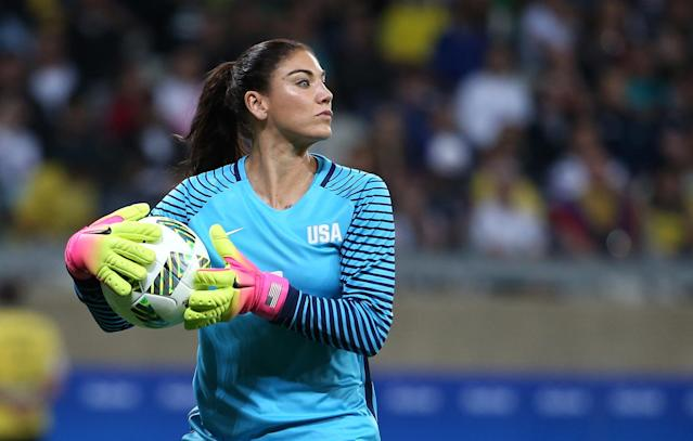 "<p>Hope Solo is no stranger to controversy and these Games proved no different. Following Team USA's loss in a shootout against Sweden, Solo commented that her opponents ""played like a bunch of cowards."" Oh. Sore loser much? (AP Photo/Eugenio Savio) </p>"