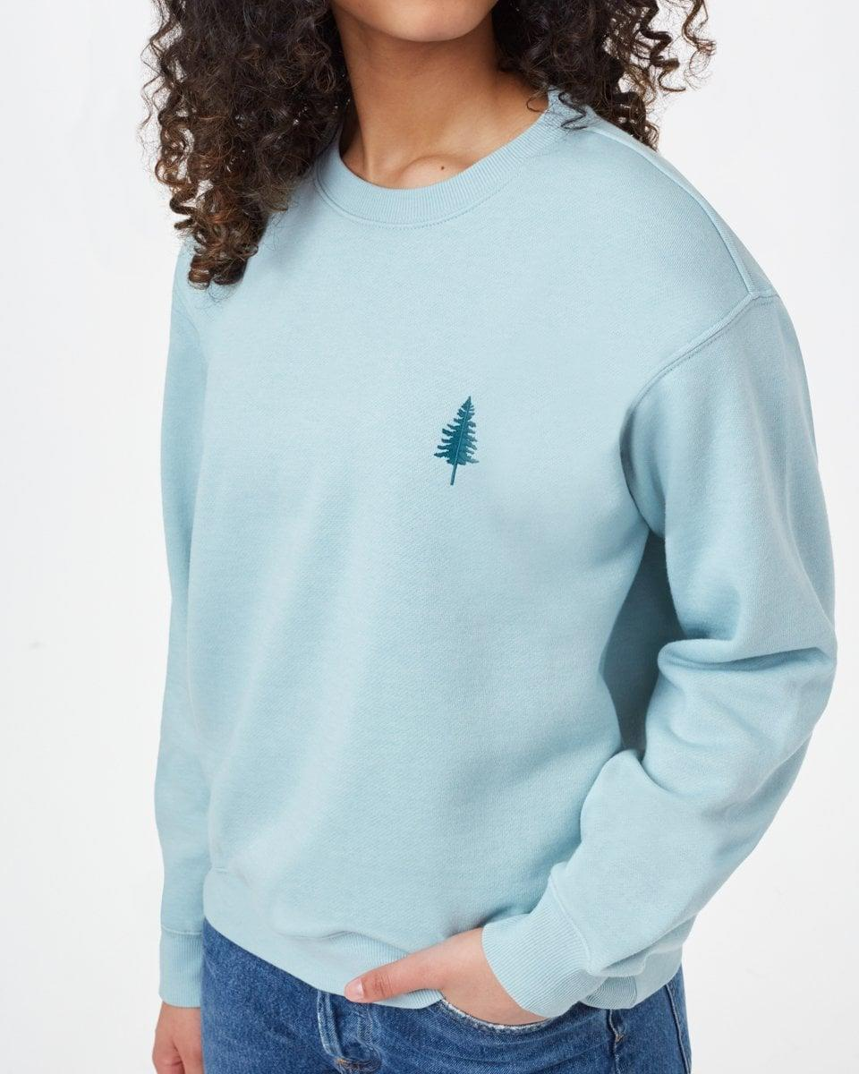 """<p>""""This environmentally conscious brand plants 10 trees for every sweatshirt sold. I love the <span>Ten Tree TreeFleece Golden Spruce Crew</span> ($58) in powder blue.""""</p>"""