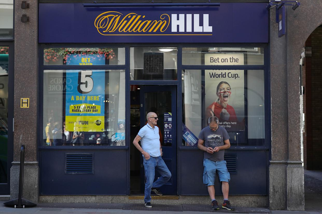 A branch of William Hill, Ludgate Hill, in central London. Around 4,500 jobs are at risk at the bookmaker after it announced plans to axe 700 betting shops across the UK.