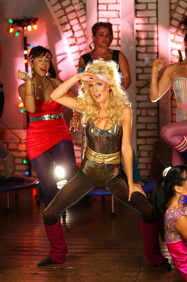 "Heidi Montag unsuccessfully attempts to get ""Physical"" as an aerobics instructor with a love of loathsome leotards and legwarmers. James Breeden/<a href=""http://www.pacificcoastnews.com/"" target=""new"">PacificCoastNews.com</a> - August 21, 2008"