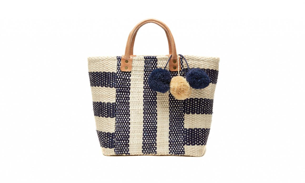 "<p>Mar Y Sol is an accessories brand founded by Laurel Brandstetter in 2003. She works with local artisans in Madagascar to source sustainable materials to create her unique, handcrafted handbags.<br /><br /> Collins, $129, <a rel=""nofollow"" href=""http://store.shopmarysol.com/collins.html"">marysol.com</a> </p>"