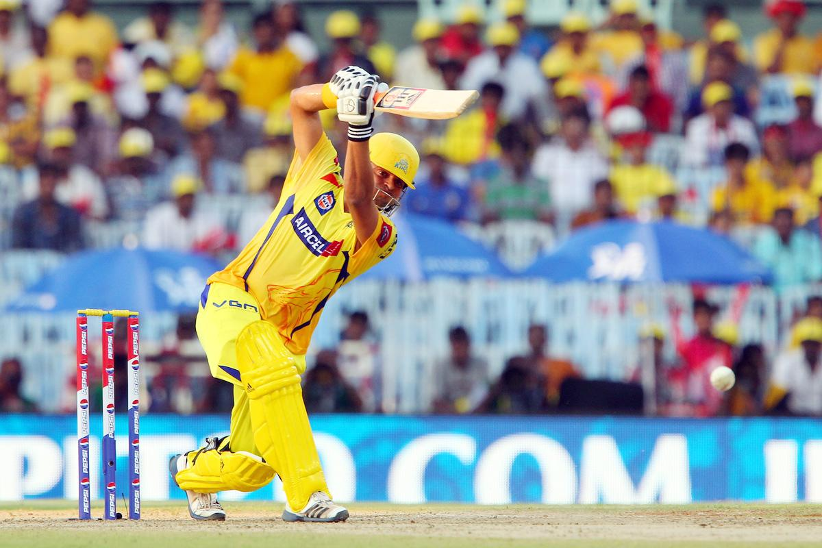 Suresh Raina during match 38 of the Pepsi Indian Premier League between The Chennai Superkings and the Kolkata Knight Riders held at the MA Chidambaram Stadiumin Chennai on the 28th April 2013. (BCCI)