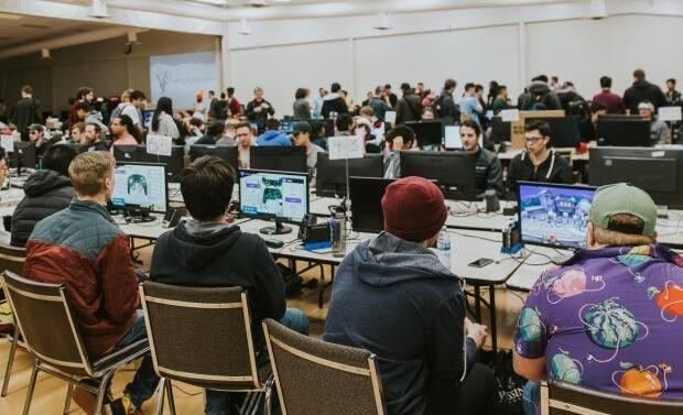 A scene from the 2020 Salt Flats event, a large annual esports event held in Alberta. (Submitted by the Alberta Esports Association - image credit)