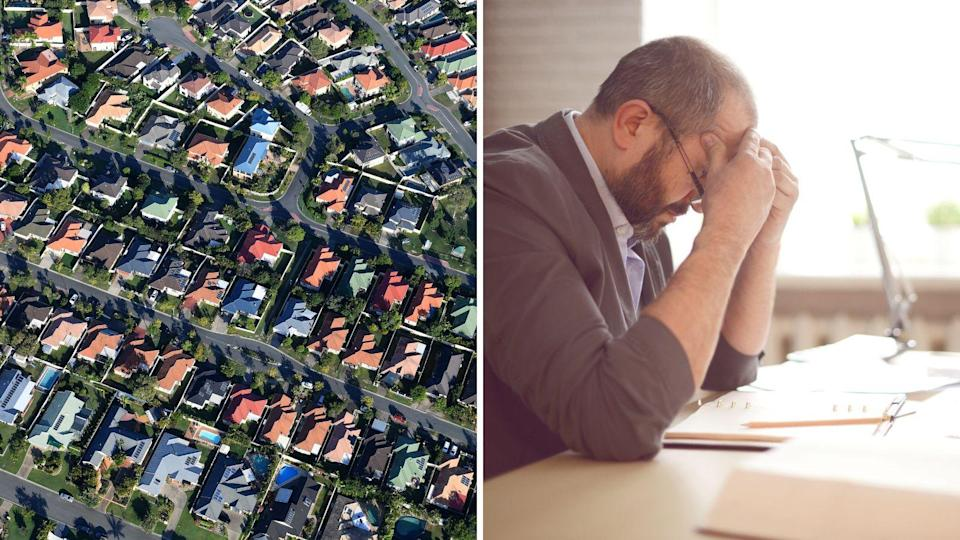Man looks stressed over his finances. Source: Getty Images