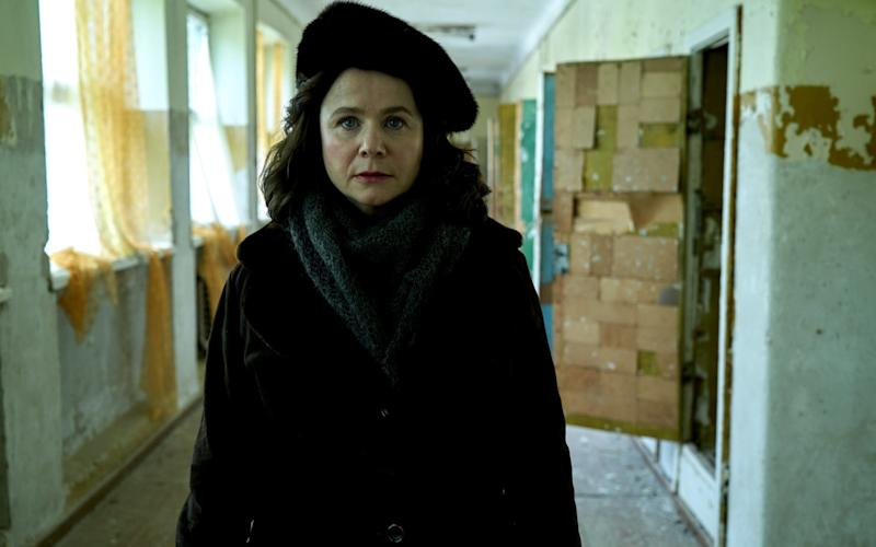 Emily Watson in the brilliant mini-series Chernobyl, which is still being shown on Sky Atlantic - ©Sky UK Ltd/HBO