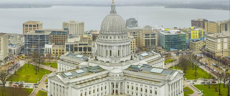 Wisconsin state capital in Madison Wisconsin