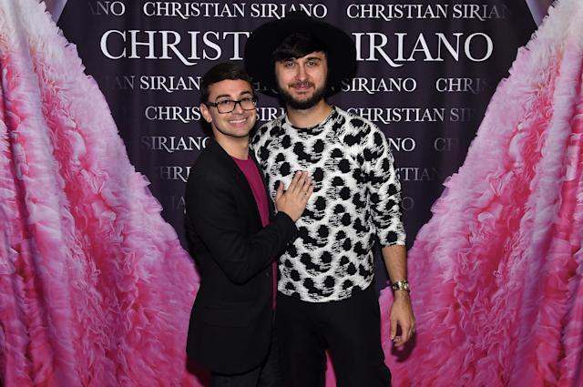 Christian Siriano and Brad Walsh celebrating the release of the designer's book <em>Dresses to Dream About</em> on Nov. 8, 2017, have separated after more than a decade together. (Photo: Jamie McCarthy/Getty Images for Christian Siriano)