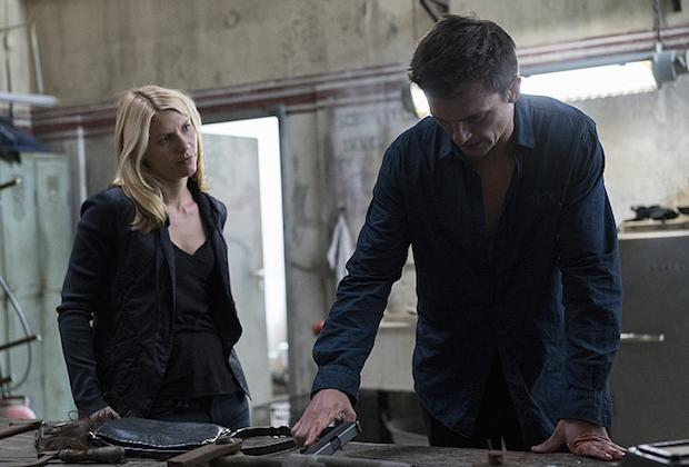 Claire Danes as Carrie Mathison and Rupert Friend as Peter Quinn in Homeland (Season 5, Episode 5). - Photo: Stephan Rabold/SHOWTIME - Photo ID: Homeland_505_1116.R