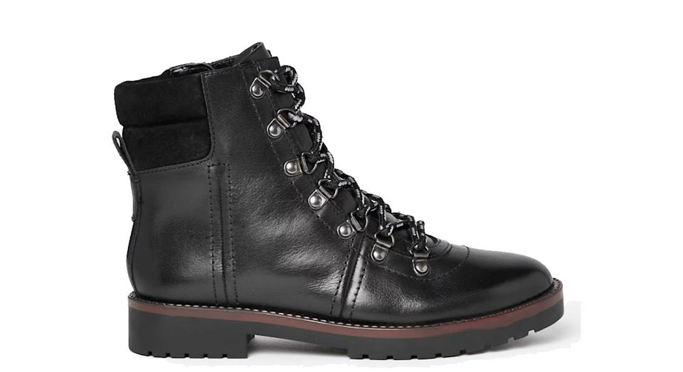 Leather Hiker Ankle Boots
