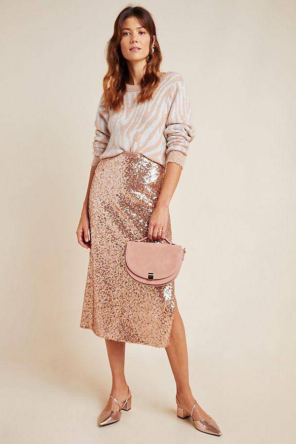Cipriana Sequined Midi Skirt