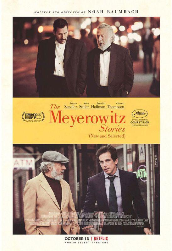 <p><strong>Role: </strong>Danny Meyerowitz<br></p><p>Earning a standing ovation at Cannes, Noah Baumbach's family comedy of manners is Sandler's best chance yet for an Oscar nomination as the middle-aged son of a domineering father (Dustin Hoffman) who projects his failures as an artist onto his kids.</p>