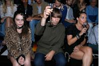 <p>Sky Ferreira, Liam Gallagher, and Debbie Gwyther attend the Saint Laurent Menswear Spring/Summer 2016 show as part of Paris Fashion Week on June 28, 2015.</p>