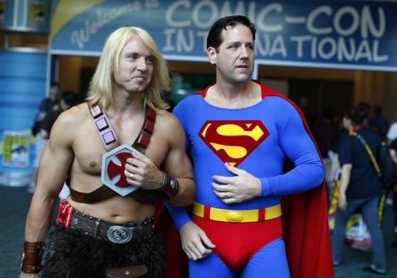 Convention attendees arrives in costume at the pop culture event Comic Con in San Diego, California July 22, 2011.