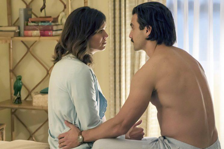 Mandy Moore as Rebecca, Milo Ventimiglia as Jack (Credit: Ron Batzdorff/NBC)