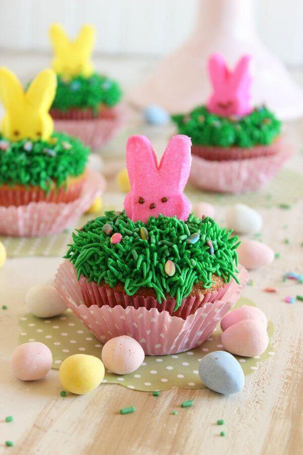 """<p>How cute are these marshmallow bunny cupcakes? As much as we love Peeps, its the faux-grass frosting and Cadbury eggs that really steal the show.</p><p><em><a href=""""http://www.ohsweetbasil.com/cadbury-mini-egg-cupcakes-recipe/"""" rel=""""nofollow noopener"""" target=""""_blank"""" data-ylk=""""slk:Get the recipe from Oh, Sweet Basil »"""" class=""""link rapid-noclick-resp"""">Get the recipe from Oh, Sweet Basil »</a></em> </p><p><strong>RELATED:</strong> <a href=""""https://www.goodhousekeeping.com/holidays/easter-ideas/g883/spring-cupcakes/"""" rel=""""nofollow noopener"""" target=""""_blank"""" data-ylk=""""slk:Easy Easter Cupcakes That Are Almost Too Cute to Eat"""" class=""""link rapid-noclick-resp"""">Easy Easter Cupcakes That Are Almost Too Cute to Eat</a></p>"""