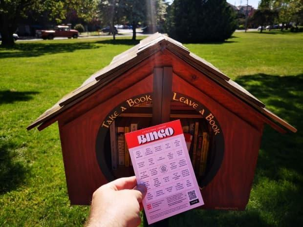 Greater Victoria Placemaking Network has launched a new book bingo game. (Submitted by GVPN/Teale Phelps Bondaroff - image credit)
