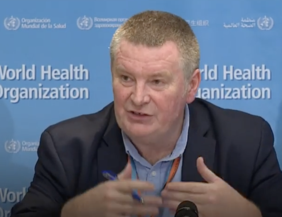 Dr Mike Ryan speaking at a WHO media briefing. Source: Instagram/who